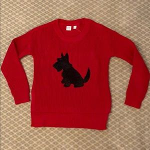 GAP KIDS - NWT Cotton sweater with sequined Scotty